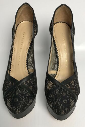 amp; Pumps Lace Morwenna Charlotte Condition Great Leather Olympia qwPtxBgz