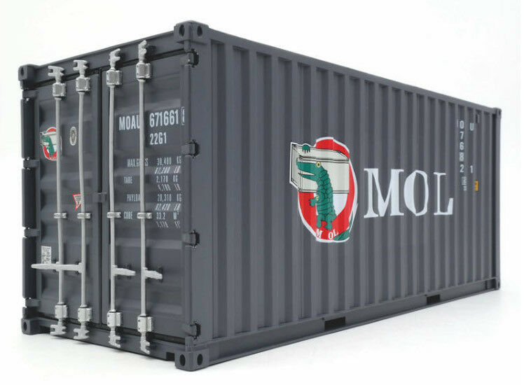 1 20 MOL CONTAINER RESIN MODEL WITH FORKLIFT & BOARD