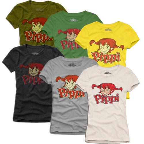 PIPPI LANGSTRUMPF VINTAGE T-SHIRT S-L many colours; ToP ReTrO