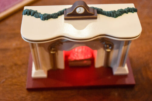 The Bearinger Flickering Light Fireplace Lighted Tabletop Display Hallmark
