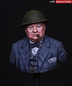 Miniatures Life Winston Churchill - Kit Jamais rendu Ww2 1 / 10ème Buste Non Peint