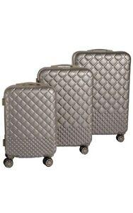 Trolley Set 3 Valigie Da Viaggio Rigida ABS Coveri Moving Verde 4Ruote Sterzanti