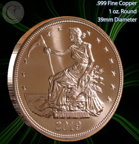 "/""Slayed Dollar/"" 1 oz .999 Copper Round Zombucks Series 2019"