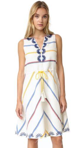 Tory Burch Tunic Dress 14 Linen $450 Blaine Stripe
