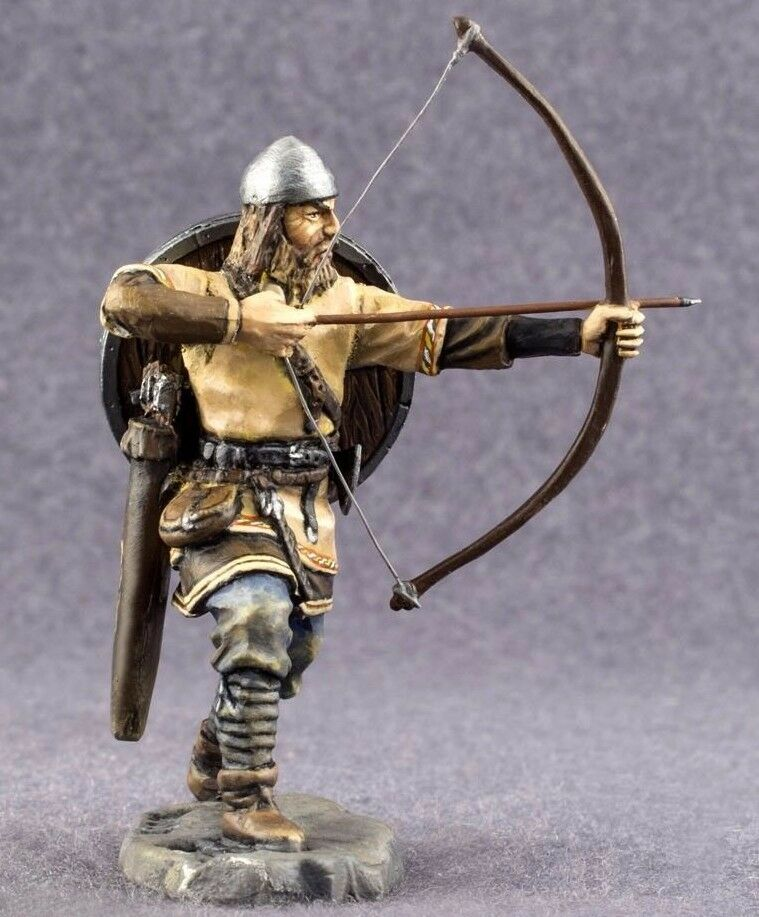 Viking Warrior 1 32 scale Painted Metal Figurine Tin Metal Toy Soldiers 54mm