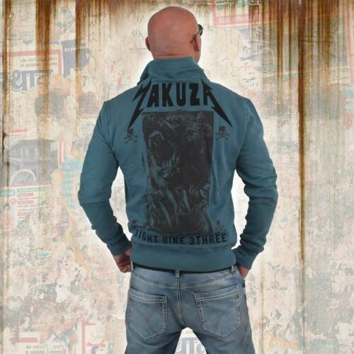 Mallard Blue Neue Yakuza Herren Beast Trainingsjacke Zipper