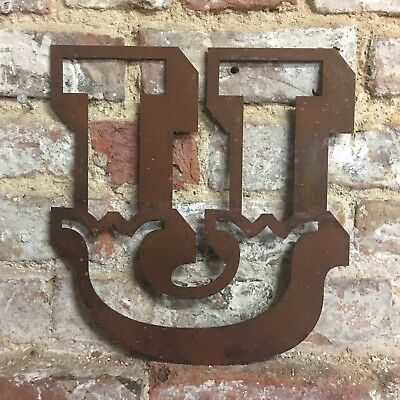 J Rusted Lettering Letters Sign Metal Shop Front Home 12inch CARNIVAL FAIRGROUND