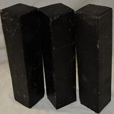 3 African Blackwood Mpingo Wood 2x2x9 Woodwind Clarinets Saxophone Handle Lumber