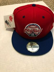 Mens-Philadelphia-Phillies-New-Era-MLB-Retro-Classic-59FIFTY-Red-Size-7-3-4-NWT