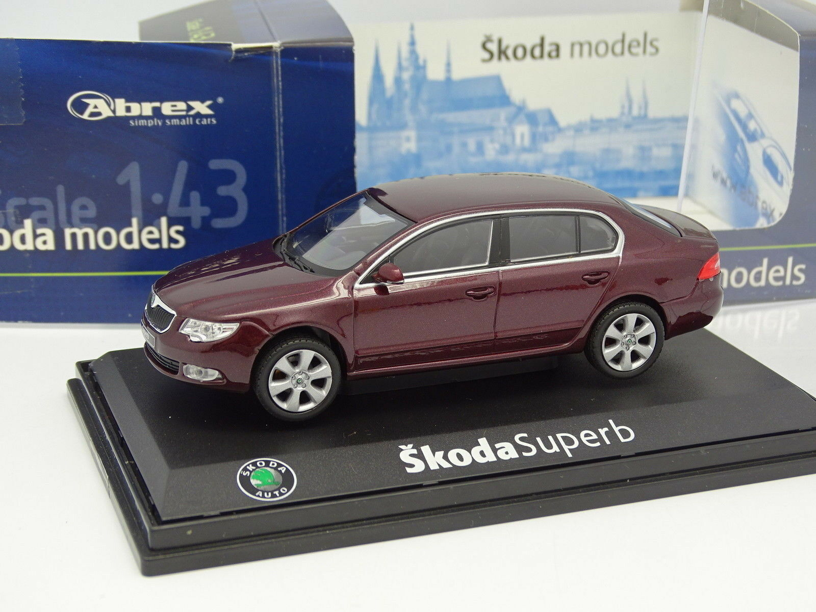 Abrex 1 43 - Skoda Superb Red