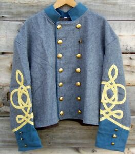 Details about civil war confederate infantry officers double breasted shell  jacket 50