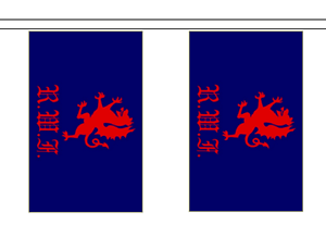 Royal Welch Fusiliers 1689 to 2006 British Army Deluxe Table Flag