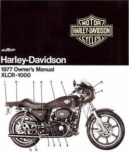 1977 Harley Davidson Xlcr 1000 Cafe Racer Owners Manual Xlcr 1000 Sportster Ebay