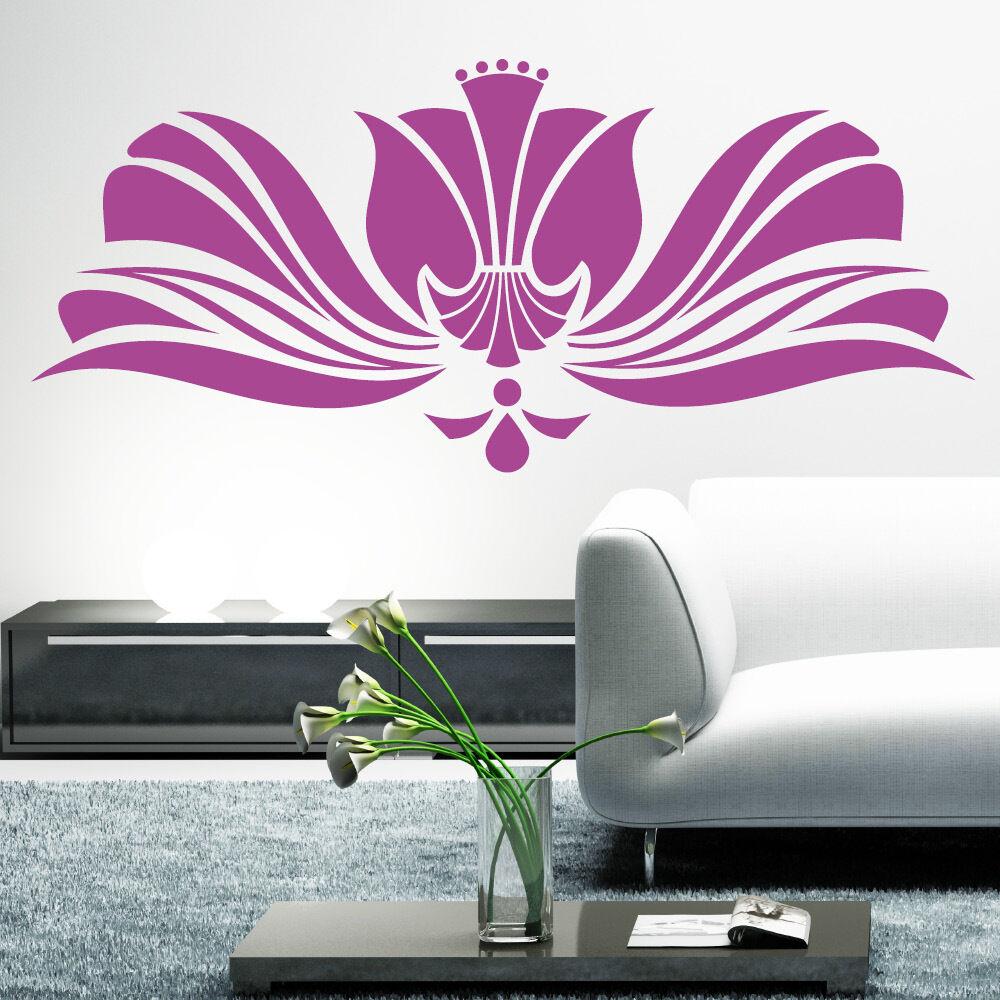 10128 Muro Tatuaggio-Loft ® Muro Tatuaggio Motivo Ornamentale Fioritura-Decorazione Parete Adesivo