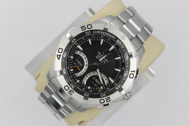 Tag Heuer CAF7010.BA0815 BLACK Aquaracer Calibre S Watch Mens Mint Crystal SS 4K