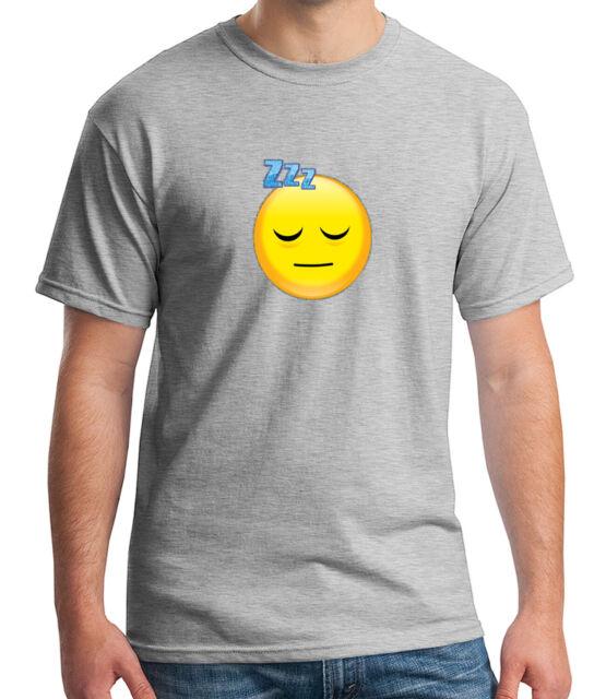 Emoji Zzz Adult/'s T-shirt Sleeping Emoticon Glittery outline Tee for Men 1342C