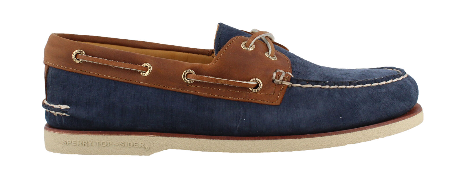 SPERRY SPERRY SPERRY GOLD CUP AUTHENTIC/ORIGINAL TWO EYE NUBUCK - NAVY/TAN 3369b5