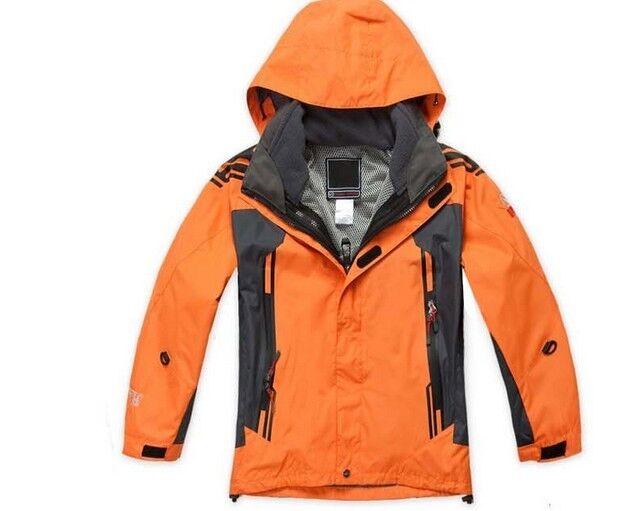 D69 Kids Orange Ski Snowboard Winter Waterproof Breathable Jacket S M L XL XXL