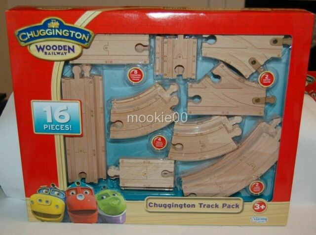 Chuggington Wooden Railway TRACK PACK Train Track 16 Pieces Learning Curve 56902