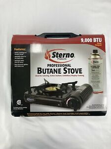 Sterno Professional Butane Stove New In Box Adjustable Flame Piezo Ignition