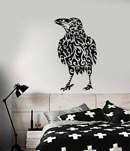 Image Is Loading Vinyl Wall Decal Abstract Raven Bird Gothic Style
