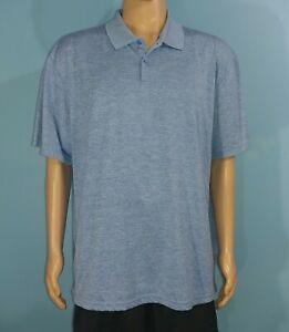 Haggar-Clothing-Blue-Polo-Golf-Shirt-Size-2XL-2XLarge-A7
