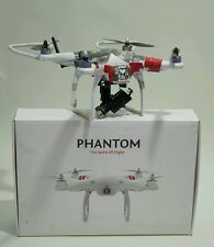 DJI Phantom Drohne + Extra viel Zubehör + LCD Display + GoPro Gimball
