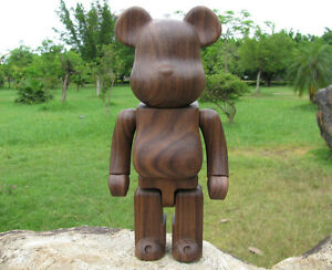 1942dd66 New Custom 400%(28cm) Black Walnut Wood Bearbrick Be@rbrick Fashion ...
