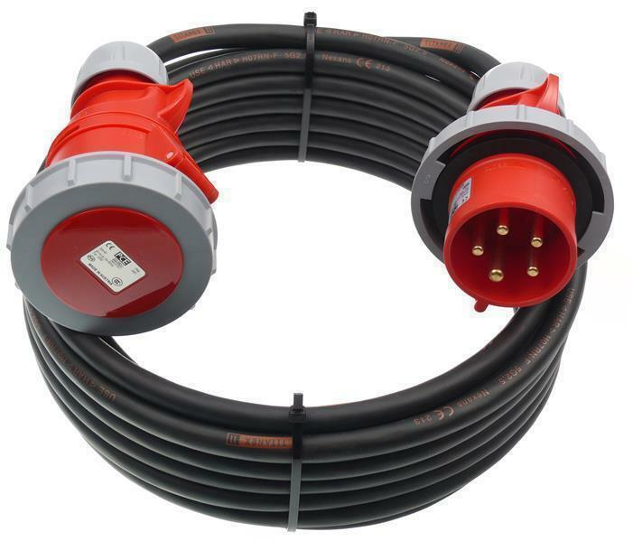 m CEE Verlängerung mit PW TITANEX 5G2,5 32A  MAX 20A Belastung IP67 45m