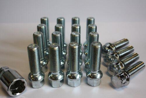 M14 X 1.5 45MM RADIUS ALLOY WHEEL BOLTS /& LOCKING FIT MERCEDES CL CLC CLS CLA