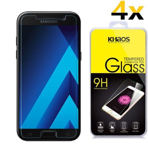 4x para Samsung Galaxy A7 2017 HD protector de pantalla de vidrio templado