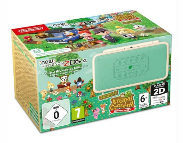 NUOVO Nintendo 2DS XL Animal Crossing + Edition Crossing: Nuovo Animal Leaf-direttori