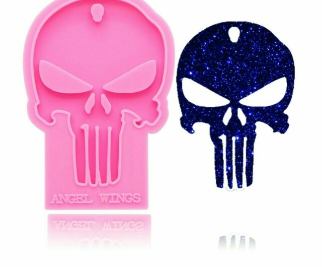 Shiny Halloween SKULL FACE mold Silicone for Keychains Epoxy Craft jewelry making Molds DIY Handmade Charms Mould,Jewelry Mold Glitter Mold