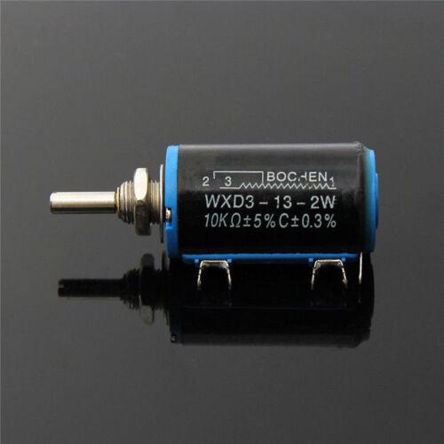 1PCS WXD3-13 2W 10K ohm Turn Wire Wound Control Potentiometers BBC