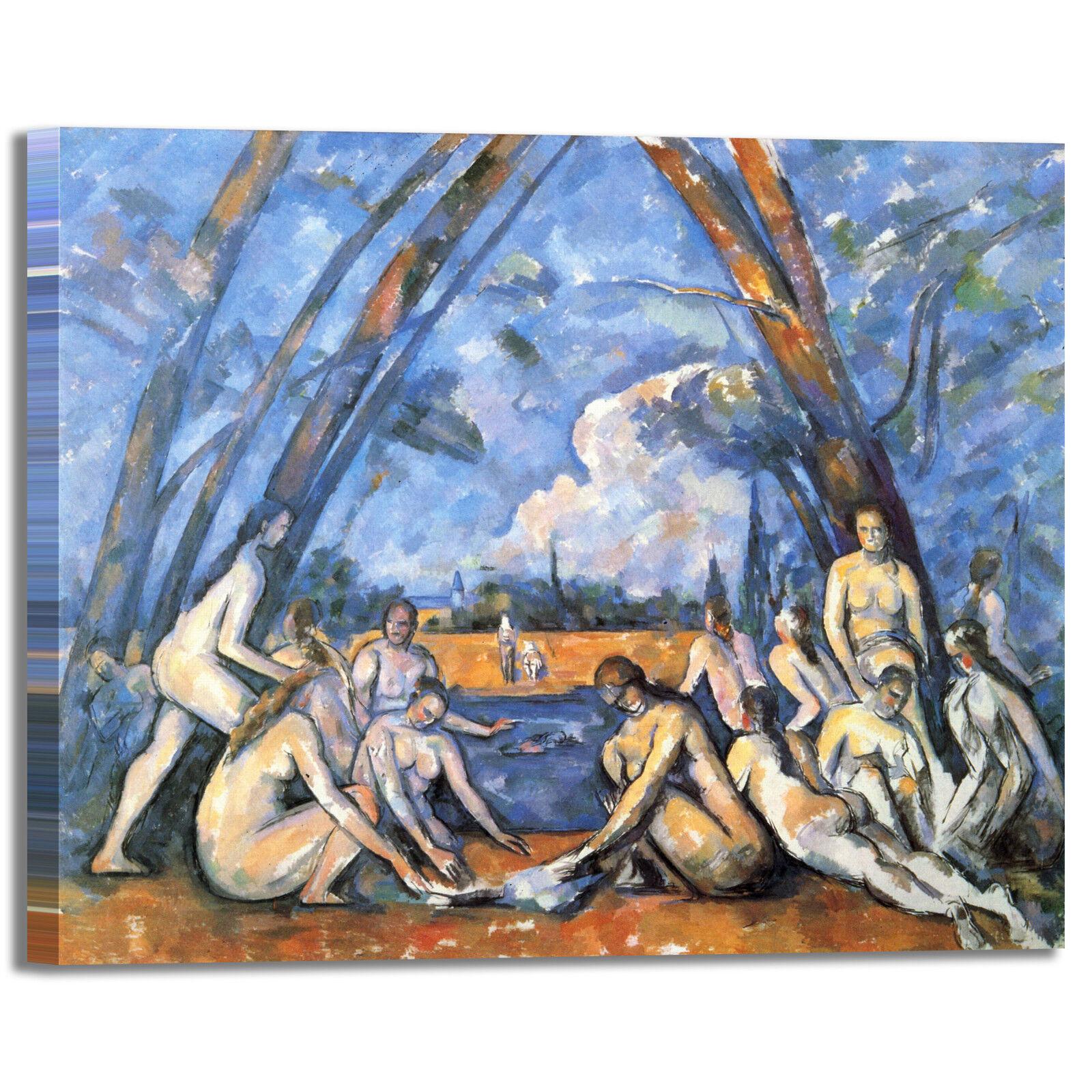 Cezanne bagnanti quadro 10 design quadro bagnanti stampa tela dipinto con telaio arRouge o casa 13dde4