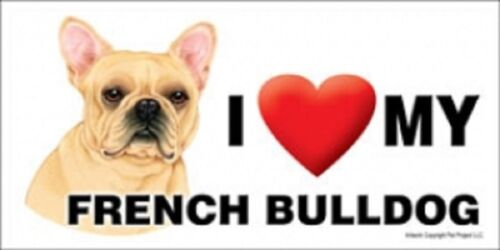 I MY FRENCH BULLDOG Magnet LOVE  Made in USA Heart
