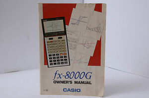 Casio fx 8000g owners manual calculator manual ebay image is loading casio fx 8000g owners manual calculator manual ccuart Choice Image