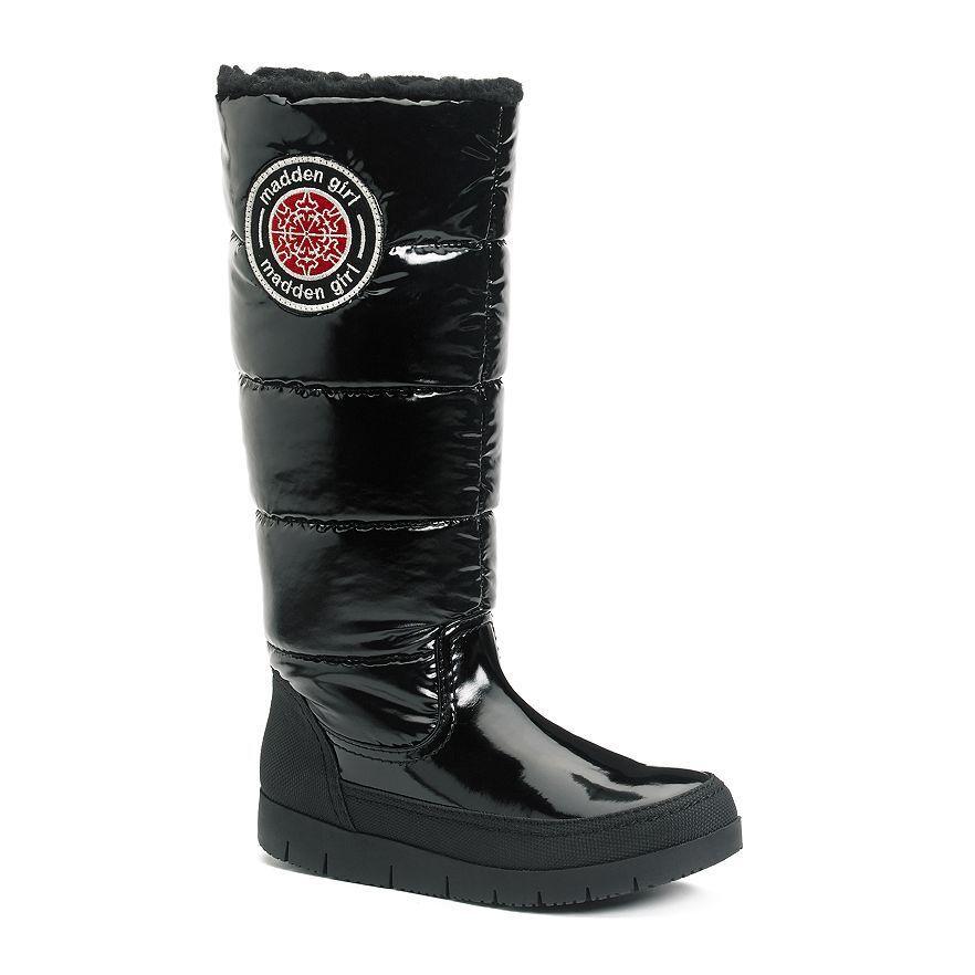 Madden Girl Iggloo Women's Black Winter Puffer Boots Various Sizes NEW