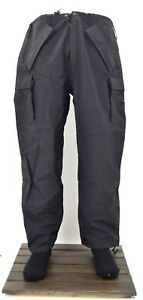 Army-Military-Black-Wet-Weather-Goretex-Over-Trousers-Waterproof-Combat-SF-Pants
