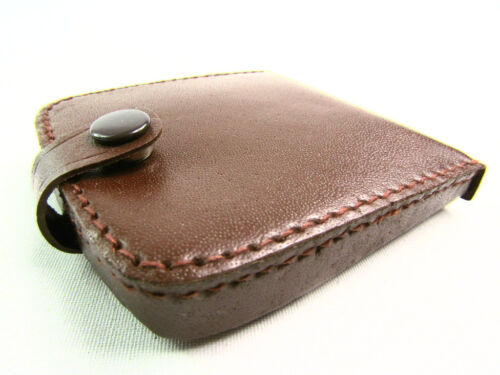 Mens womens High Quality Real Leather Coin Pouch Tray Wallet Notes Purse coins