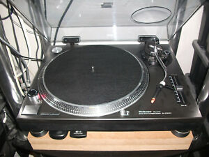 Deer Hide Leder Plattenspieler Matte (schwarz) für Technics sl1200's/sl1210's