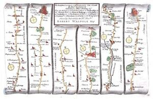 Antique-map-The-Road-from-London-to-Kings-Lyn-plate-043