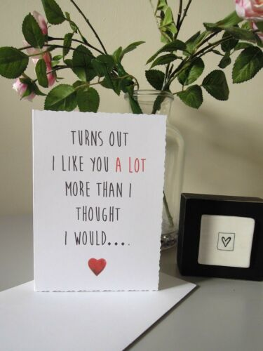 Like You Humour Valentines Day Card Love Heart Girlfriend Boyfriend Wife Husband