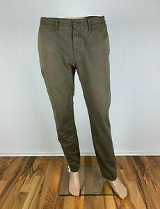 Ben-Sherman-EC1-Chinos-Cotton-Pants-Trousers-Braun-Brown-Khaki-33-32