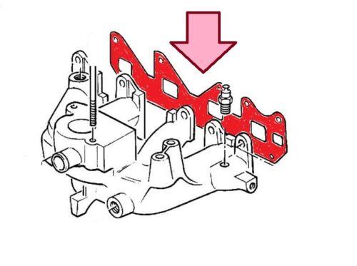 1.6i anche Cabrio Per OPEL Guarnizione Collettore KADETTE e 1.4i