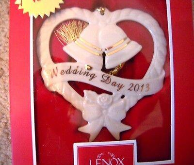 Lenox 2013 Wedding Day Bells & Heart Ceramic Christmas ...