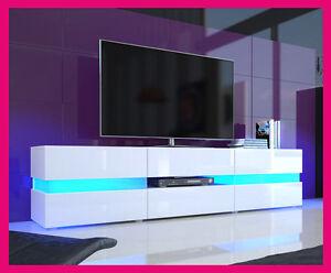 Mobile Tavolo Porta Tv Moderno Laccato Lucido Salotto Soggiorno Sala Da Pranzo Ebay