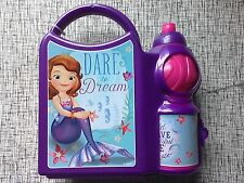 DISNEY Sofia the First 1st CHILDRENS Lunch Box With Sports Bottle School Set