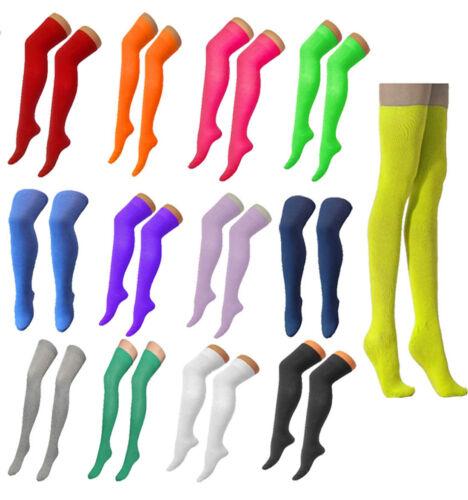 Signore pianura elastico Lycra OTK Calzini Donna Fancy coscia alta sopra il ginocchio Calze