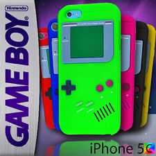 Gameboy Case For iPhone 5c 5 c + Screen Guard Game Boy Silicon Rubber Soft Cover